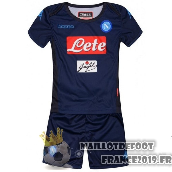 Maillot De Foot Kappa Third Ensemble Enfant Naples 2017-2018 Bleu