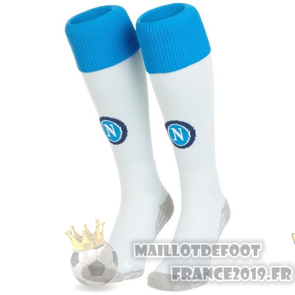 Maillot De Foot Kappa Third Chaussettes Naples 2018-2019 Blanc