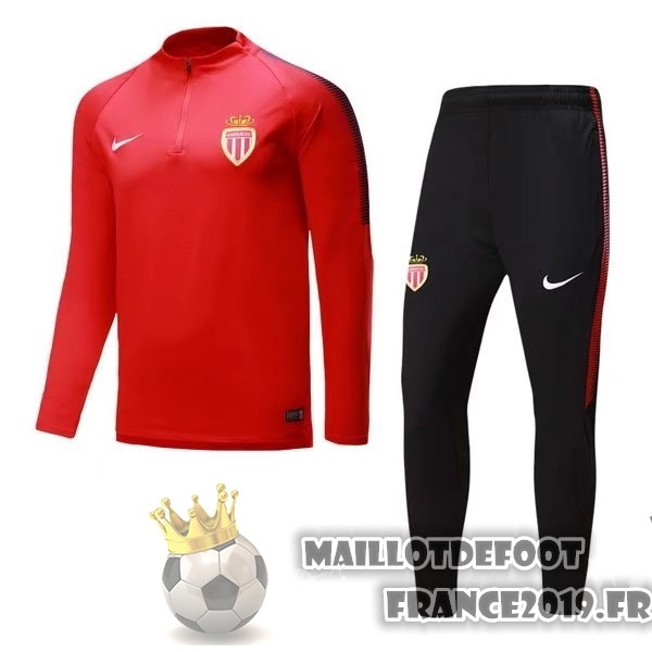 Maillot De Foot Nike De Laine Survêtements AS Monaco 2017-2018 Rouge