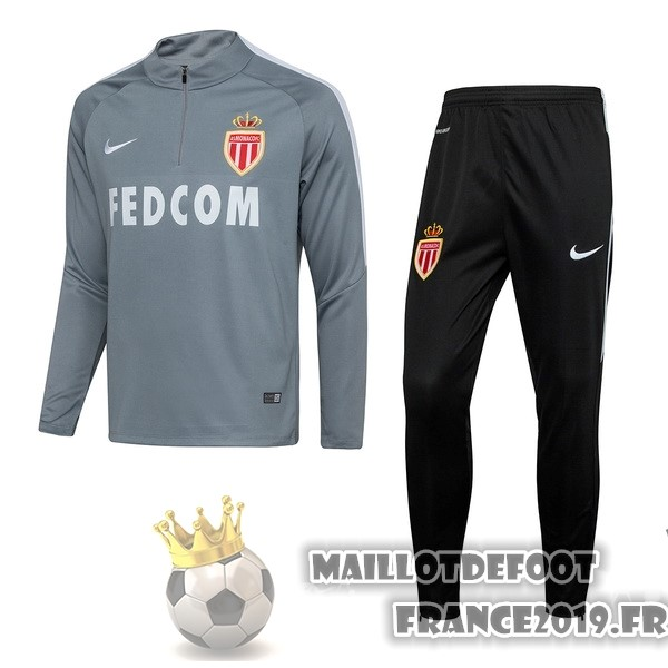 Maillot De Foot Nike Survêtements AS Monaco 2017-2018 Gris