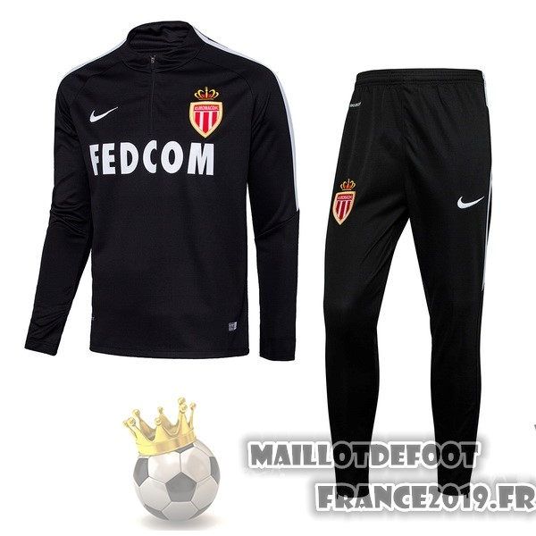 Maillot De Foot Nike Survêtements AS Monaco 2017-2018 Noir
