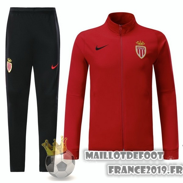 Maillot De Foot Nike Survêtements Enfant AS Monaco 2017-2018 Rouge