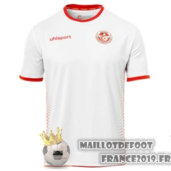 Maillot De Foot adidas Domicile Maillots Tunisie 2018 Blanc