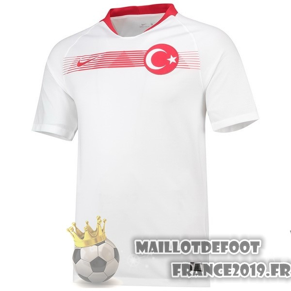 Maillot De Foot Nike Exterieur Maillots Turquie 2018 Blanc