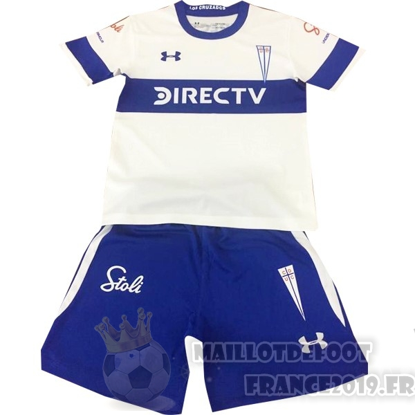 Maillot De Foot Under Armour Domicile Ensemble Enfant Universidad Católica 2019 2020 Blanc