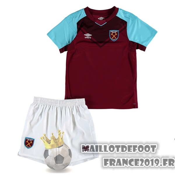 Maillot De Foot umbro Domicile Ensemble Enfant West Ham United 2017-2018 Bordeaux
