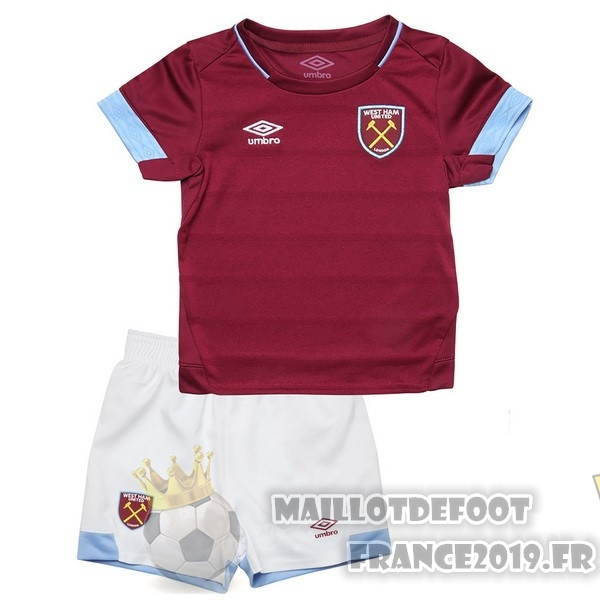 Maillot De Foot umbro Domicile Ensemble Enfant West Ham United 2018-2019 Rouge
