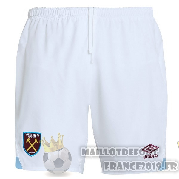 Maillot De Foot umbro Domicile Shorts West Ham United 2018-2019 Blanc