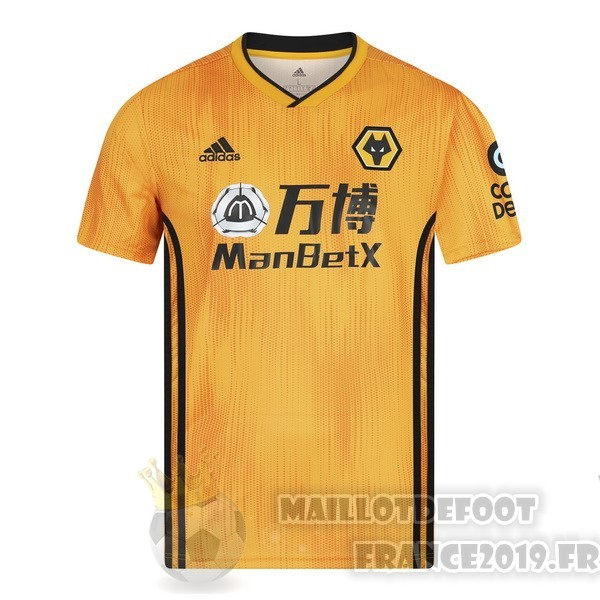 Maillot De Foot Adidas Domicile Maillot Wolves 2019 2020 Amarillo