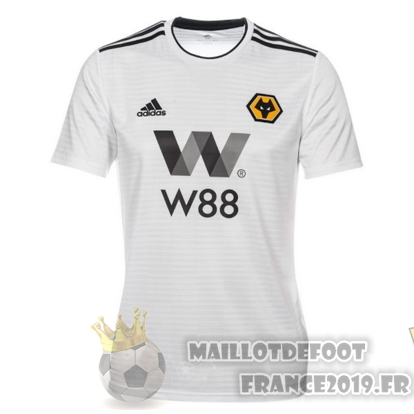 Maillot De Foot adidas Exterieur Maillots Wolves 2018-2019 Blanc